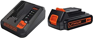 BLACK+DECKER 20V MAX Lithium Battery Charger with 1.5-Ah Lithium Battery (BDCAC202B & LBXR20)