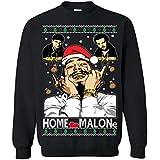 Memetic Ugly Christmas Sweater Home Malone Unisex Sweatshirt Black