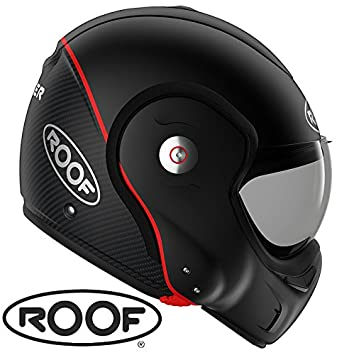 Roof - Casco Roof RO9 Boxxer en fibra de carbono de color negro mate para moto