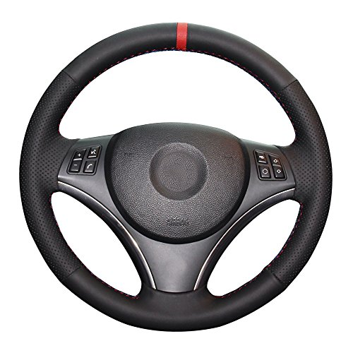 Bmw 330i Wheels - Eiseng DIY Sew Black Microfiber Leather Car Steering Wheel Cover for BMW E90 325i 328i 330i 335i E87 120i 130i 120d Interior Accessories