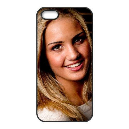 Ina Wroldsen 001 coque iPhone 5 5S cellulaire cas coque de téléphone cas téléphone cellulaire noir couvercle EOKXLLNCD24541