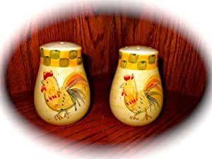 "Set of Ceramic Rooster Salt and Pepper Shakers (3.5"" Tall)"
