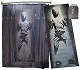 Robe Factory Star Wars Fan College Dorm Room Decor Bundle (Han Solo in Carbonite Rug, Thermoelectric Cooler and Shower Curtain)