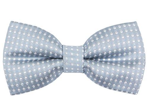 OCIA Little Boys' Classic Polka Dots Bow Tie Gray