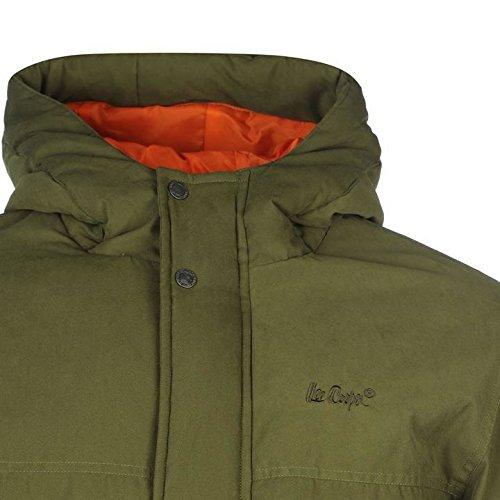 Lee Cooper Basic Parka Veste pour homme Kaki vestes manteaux Parka