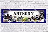 Personalized Minnesota Vikings Banner - Includes Color Border Mat, With Your Name On It, Party Door Poster, Room Art Decoration - Customize