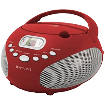 Amazon Com Riptunes Cdb200 Portable Cd Boombox Red