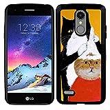 TPU Phone Case Fit LG K8 2017 [5 Version] Cat Haircut