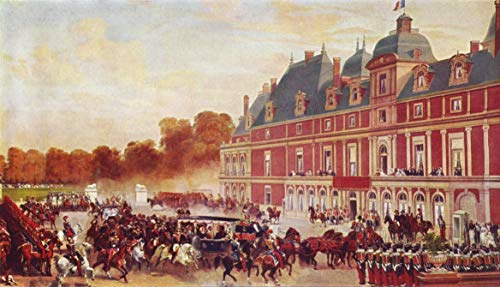 Home Comforts Peel-n-Stick Poster of Lami, Eugène -Louis - Arrival of Queen Victoria in Château d'Eu Vivid Imagery Poster 24 x 16 Adhesive Sticker Poster Print ()