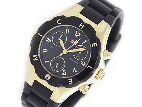 Michele Woman's MWW12D000012 Tahitian Jelly Bean Gold Plate Black Watch