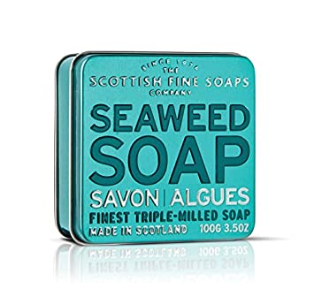 Scottish Fine Soaps Serie Aromas Escoceses - Jabón en lata 100 g - Aroma Algas (Exfoliante) A01162