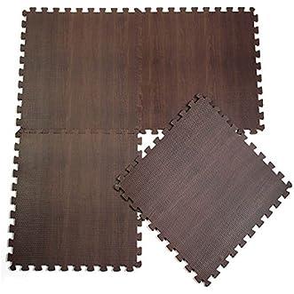 10pcs Baby EVA Mat Wood Grain Ground Carpet Split Joint Puzzle // 10pcs eva bebé alfombra suelo de madera del grano esterilla dividida rompecabezas conjunta