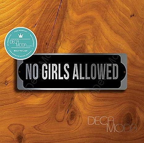 Amazon.com: Deca Moda no Girls Señal permitida, signos para ...