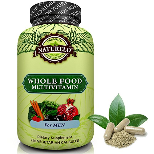 Best Antioxidant (NATURELO Whole Food Multivitamin for Men - Natural Vitamins, Minerals, Antioxidants, Organic Extracts - Vegan / Vegetarian - Best for Energy, Brain, Heart, Eye Health - 240 Capsules)