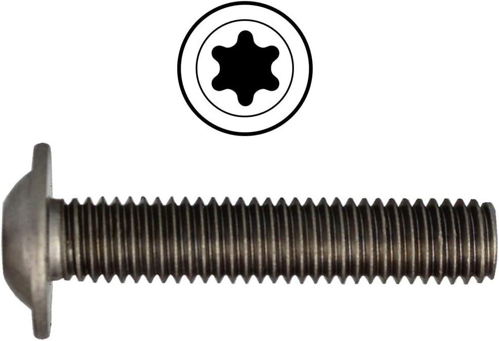 Edelstahl A2 Innensechsrund ISR Linsenkopfschrauben M8 X 8 ISO 7380 mit Flansch u 50 St/ück - V2A Linsenschrauben mit Bund Rundkopfschrauben Halbrundkopfschrauben Flanschschrauben