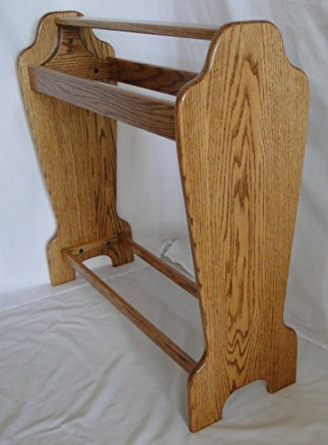 Wooden Stand Saddle - Tapered Saddle Stand - Honey Oak Stain