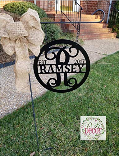 Personalized Garden Flag Light Post Sign 12
