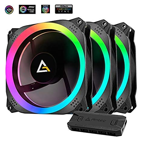 Antec Prizm 120mm RGB Case Fan Radiator - 3 Pack and 2 RGB Strips