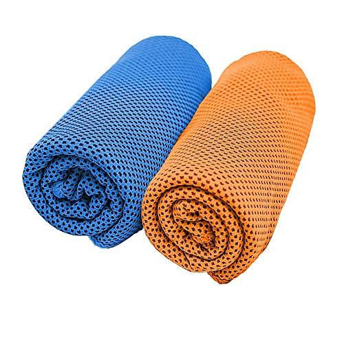 [해외]스포츠 타 올 초 냉 냉각 수건 쿨 타 올 2 매 세트 瞬 냉 경량 슈퍼 흡수 속 건 타 올 서 늘 타 올 더위 대책 일사병 방지 도어 요가 운동 수영 등산 여행 / Sports Towel super cool cooling towel cool towel 2 pieces set instant cold light wei...