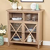 Buffet Silvia Unique Light Latte Finish Cabinet / Buffet - 38 in High x 36 in Wide x 16 in Deep. Assembly Required