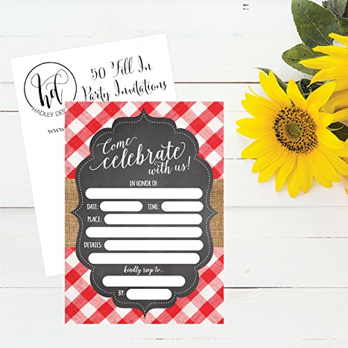 50-Red-and-White-Summer-BBQ-Party-Invitations-for-Children-Kids-Teens-Adults-I-Do-Barbecue-Beach-Housewarming-Cards-Summertime-Birthday-Pool-Family-Reunion-Invite-Picnic-Cookout-Invites