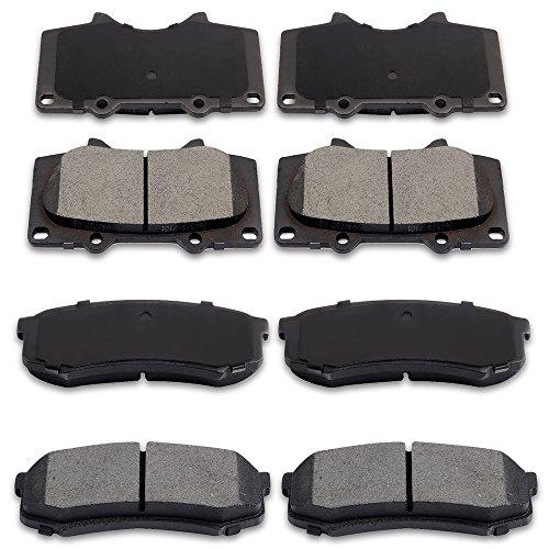 ECCPP Brake Pads Discs Kits, 8pcs Front Rear Ceramic Disc Brakes Pads Set for 2010-2017 Lexus GX460,2003-2009 Lexus GX470,2003-2016 Toyota 4Runner 2007-2014 Toyota FJ Cruiser,2003-2007 Toyota Sequoia