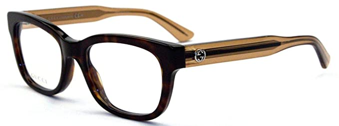 0cb489f079487 Gucci eyeglasses GG 3750 YU8 Acetate Havana - Transparent Brown