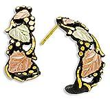 Black Hills Gold Black Powder Hoop Earrings
