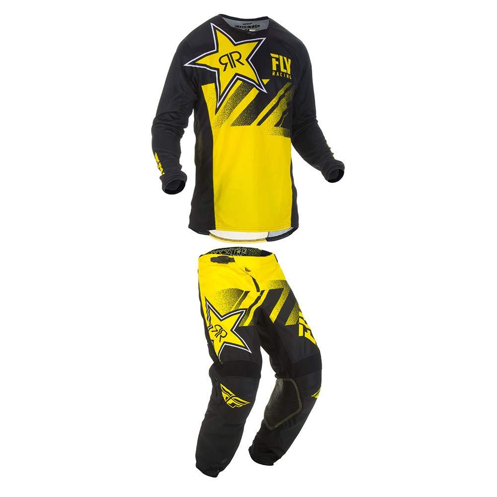 Fly Racing 2019 Kinetic Rockstar Jersey and Pants Combo Yellow//Black Medium,32