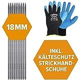 10x Schnureisen geschmiedet 1 Meter Länge 18 mm Durchmesser Set