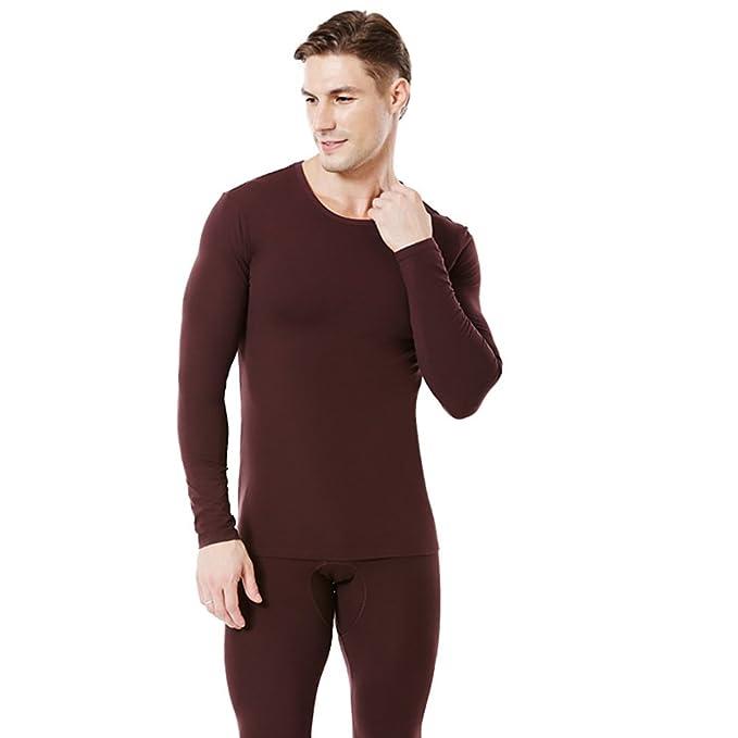 Caída de ropa interior térmica cuello redondo de los hombres/ traje de algodón amoniaco Qiuyiqiuku/Traje térmico: Amazon.es: Ropa y accesorios