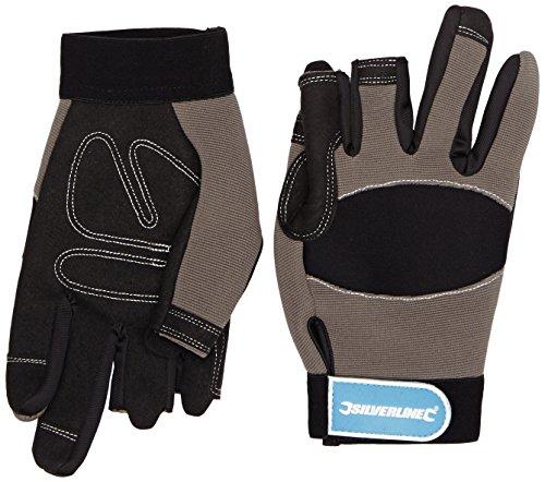 Silverline 675288 Part Fingerless Mechanics Gloves - Medium