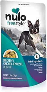 Nulo, Freestyle Puppy & Adult Mackerel, Chicken & Mussel Recipe Dog Food Pouch, 2.8 oz