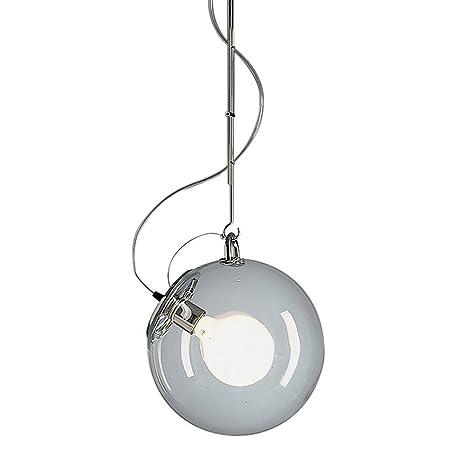 Artemide Miconos lámpara de techo E27, 15 W, cromo/cristal ...