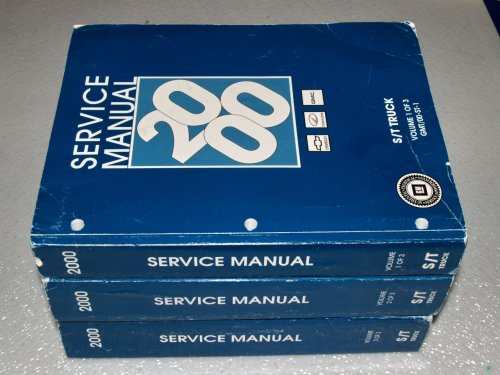 Oldsmobile Bravada Service Shop Manual (2000 GM S/T Truck Service Manual (3 Volume Set))