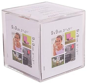 Imagine 07060500 Cristàl Beà Marco para Mesa en Forma de Cubo de 9 x 9 cm: Amazon.es: Hogar