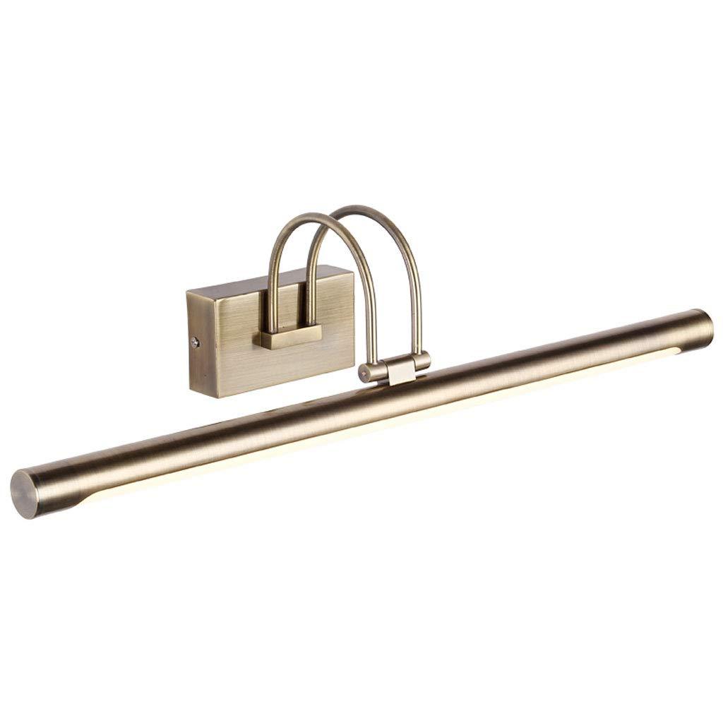 MIAOLIDP Amerikanisches Spiegelschranklicht Badezimmertoilette Badezimmer führte Retro- Spiegelscheinwerferschlafzimmer-Frisierkommode-Spiegellicht Schminktischlampe (Größe   72cm 16w)