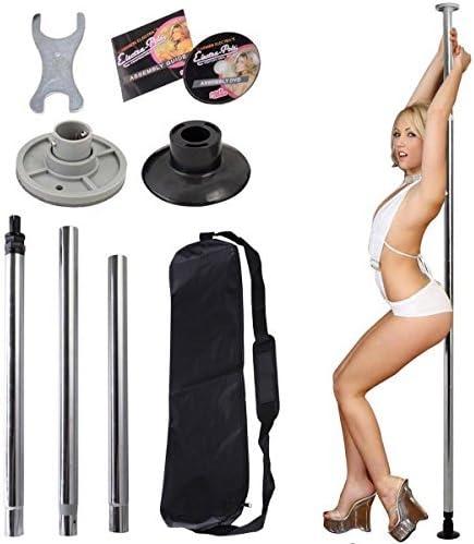 ダンスPoleフルキットPortable Stripper Exercise Fitness Clubパーティーダンスシルバー