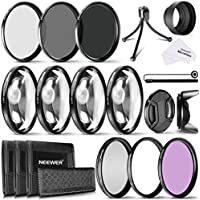 Neewer 72MM Camera Lens Filter Kit, Includes 72MM UV,CPL,FLD Filter, ND Filters(ND2,ND4,ND8), Close up Macro Filters (+1,+2,+4,+10), Mini Table Tripod and Others for All Lenses with 72MM Thread Size