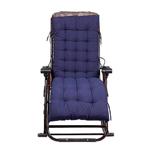 Cojín para silla de jardín, cojín para asiento y respaldo para tumbona, cojines para asientos, sillas reclinables, almohadilla para salón, color ...