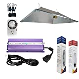 Hydroplanet™ 600w XXL Open Hood Reflector Set Horticulture Hydroponic 1000W 600W 400W Watt Grow Light Digital Dimmable ballast System for Plants (600W)