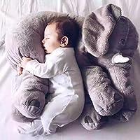 Coche Accesorios M y F 1PC Dibujos Animados 60 cm Grande Peluche Elefante Juguete niños Dormir Espalda cojín Relleno Almohada Elefante muñeca bebé muñeca cumpleaños Regalo para niños Color Gris