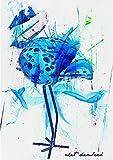 Turquoise Heron, Original, Coastal, Nautical Art, Seabird, Abstract, Original, One-Of-A-Kind, 8.5'' x 11,'' Mixed Media Artwork
