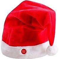ZREAL 1 PCS Peluche Cappello da Babbo Natale Che Balla Moving Santa Hat  Xmas Party Santa 03ecc3f86fd5