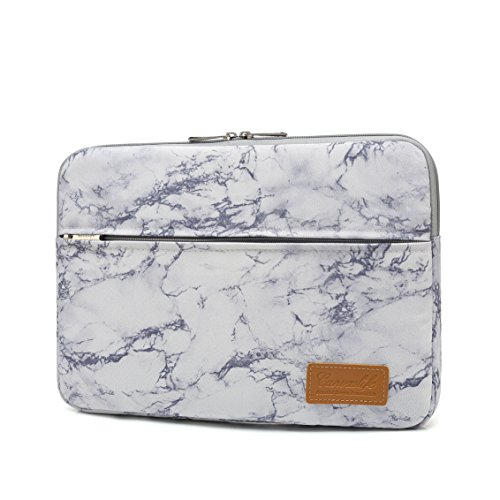 Canvaslife Marble pattern 360 degree protective 13 inch Canvas laptop sleeve with Pocket 13 Inch 13.3 Inch Laptop Case by Canvaslife (Image #1)