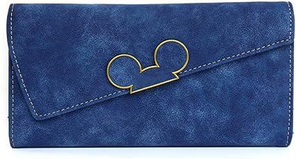 Amazon Com Juanjuan Scrub Long Color Wallet Qq Mouse Oblique Cover Type 30 Percent Female Long Wallet Wallet Blue Sports Outdoors