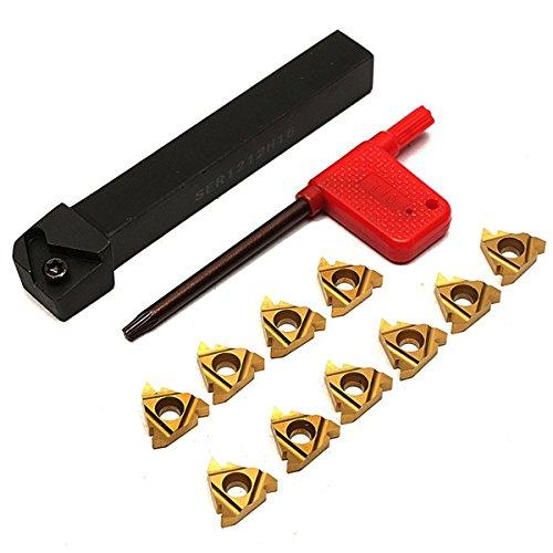 SER1212H16 Holder External Thread Turning Tool Boring Bar with 10pcs 16ER AG60 Inserts BephaMart BM00001