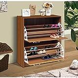 4D Concepts Deluxe Double Shoe Cabinet, Oak