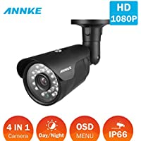 ANNKE 1080P Security Camera, 2.0MP CCTV Bullet with IP66 Weatherproof, Indoor/Outdoor, Super Night Vision, Smart IR Function