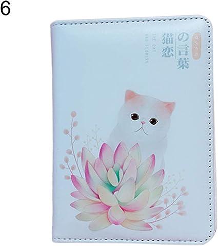 Display08 - Diario de dibujos animados para gatos, portátil, cuaderno de notas y libros, material escolar, color 6#: Amazon.es: Oficina y papelería